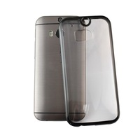 Transparent Clear Ultra-Thin Soft Gel Bumper Hard Case Cover For HTC One M8 S5V