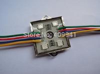 100pcs SMD5050 RGB 4 LED Modules Waterproof IP68 DC12V Free ship
