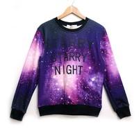 Thicken men/women Fashion Harajuku 3D Hoodies Sweaters space galsxy print Fleece sweatshirt sport Long sleeve Pullovers S/M/L/XL