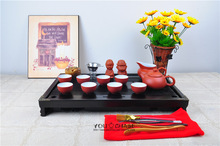 43cm 28cm 5 5cm solid wood tea tray famous YiXing kung fu tea set funny tea