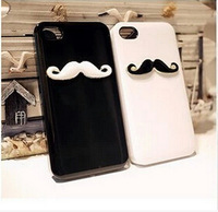 New Fashion Mustache beard cute Black white simple Couple models TPU Smooth Phone 5G Case For Apple iphone 4 4s 5 5S cover shell