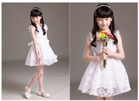 white color ruffle sleeve ball gown pricess flower girl dress