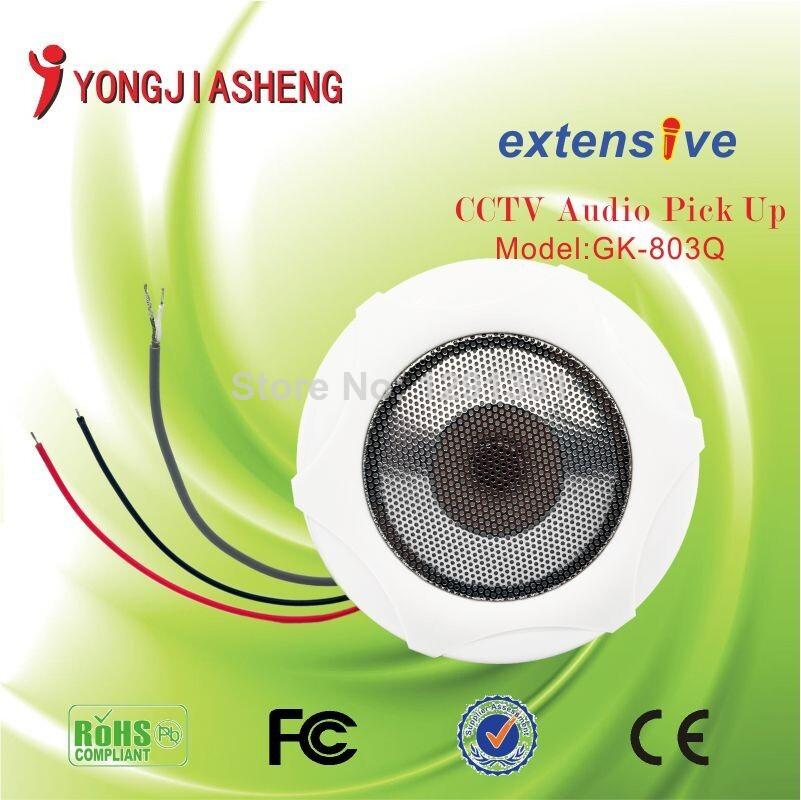 3pcs CCTV white MIC adiustable Monitor Sound monitor security audio(China (Mainland))