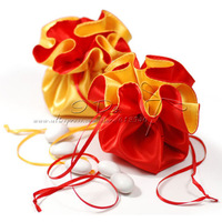 Free Shipping Satin Gold And Red Wedding Favor Box /Favor Pouch/Candy Pouch/Favor Box/Favor Bag (More Colors)