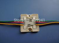 4 pcs  SMD5050 LEDs RGB LED Modules Waterproof IP68 DC12V  Square Shape Free ship