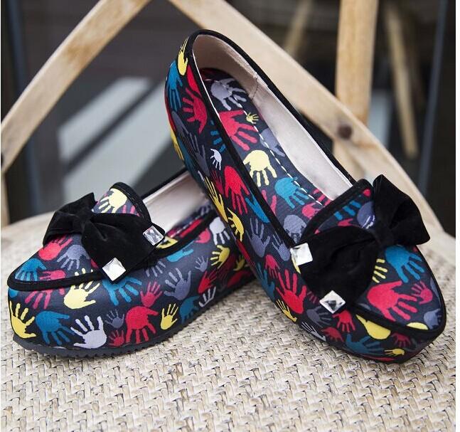 shoes women shoes women pumps women platform shoes single shoes fashion color block decoration platform(China (Mainland))