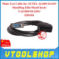 2014 New Arrival Main Test Cable for AUTEL AL609/AL619/MaxiDiag Elite/MaxiCheck/VAG505/OLS301/EBS301 Free Shipping