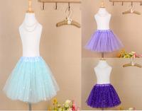 2014 Hot Selling 2-8y Saia Infantil Tutu Soft Chiffon Saia Tutu Girl Skirt 6 Color Free Shipping