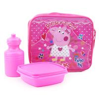 Free Shipping 1pc Peppa pig Lunch bag Lunch Box nylon handbag children shouldren bag 24*20*7 Retail