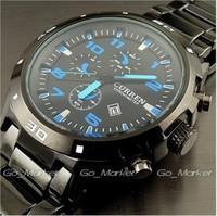 Authentic CURREN Karui En fashion casual men's watch waterproof watch male sports calendar sheet steel wind