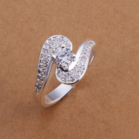 R179 2014 new hollow love inlaid stone 925 silver ring, size US 8, fashion ring, Nickle free, antiallergic Free shipping