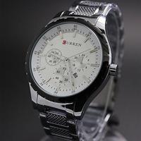 Genuine Ka Ruien casual men watch men calendar silver fashion business suits waterproof quartz watch
