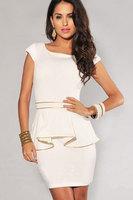 Dresses Real Empire Dress Vestido De Festa 2014 New Fashion Women For Edge Peplum Dress Elegant Career OL Plus Size M/L/XL N120