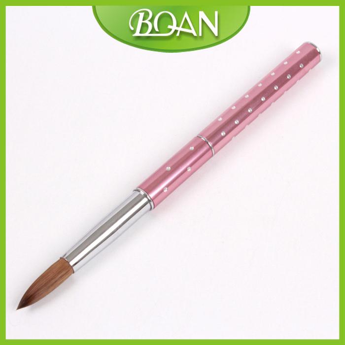 1 Pc #8 Metal nail brush kolinsky Acrylic Nail brush for Sable brush Free Shipping(China (Mainland))