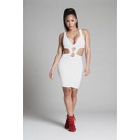 D046 Free Shipping Fashion New Europe Popular Deep V-Neck Backless Skinny Print  Women's Dress  For Summer