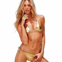 Free shipping 2014 summer new Europe and the United States women's bikini sexy swimsuit golden