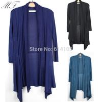 Sweaters 2014 Women Fashion Autumn Spring Plus Size Women Sweater Crochet Long sleeve  Mint Long Cardigan