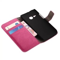 High quality Flip cover with card slot packet stand case pouch for HTC M8 MINI 7 color available Free shipping