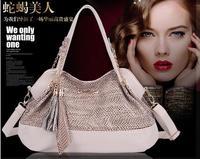 Sell like hot cakes! New POLO snake leather ladies' bags tassels handbag designer bags high quality single shoulder bag