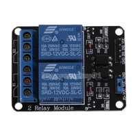 New 12V 2 Channel Relay Module With Optocoupler For Arduino PIC AVR DSP ARM H1E1