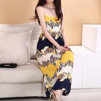 Fashion 2014 Summer New Korean Version Large Size Women Bottoming Slim Chiffon Sleeveless Dress Multi Colour For Noble Girl