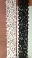 5.5cm width 40mtrs/ lot ivory /black  elastic stretch Lace DIY headband,garter, apparel accesorry,cloth,craft,lacy card,clothing