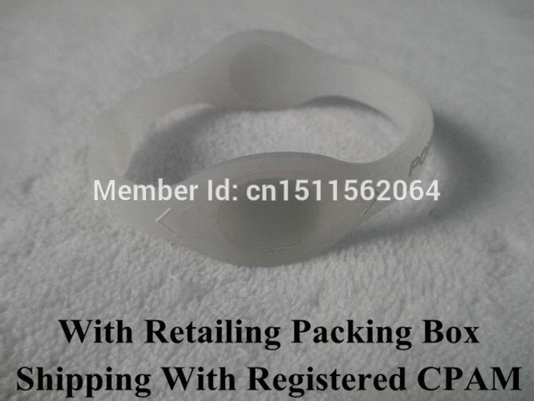 Retailing With Packing Box 3 Sizes Transparent With White Letters Sporty Silicone Bracelet Power Bangle Balance Energy Wristband(China (Mainland))