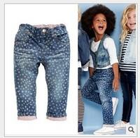 2014 New Children 's Jeans Cotton Denim Kids Jeans Girls Pants Baby Trousers Size:3/4/5/7/9