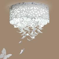 D45cm New arrival led crystal butterflies ceiling light living room bedroom lamp entranceway aisle lights brief romantic