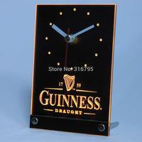 tnc0090 Guinness Beer Ale 3D LED Table Desk Clock