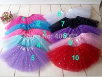 Wholesale Glitter Tutu Skirt Baby Girls Skirts Ballet Skirt Dance Tutu skirts New Arrived Tutus Pettiskirt Free Shipping By EMS