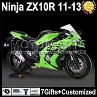 7gifts Injection  For factory green KAWASAKI NINJA ZX10R  ZX-10R K2212 ZX 10R green black 10 R 11 12 13 2011 2012 2013 Fairing