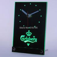tnc0091 Carlsberg Beer 3D LED Table Desk Clock