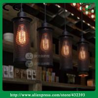 Rh Loft Vintage Black Iron Cast Restaurant Pendant Light Bar Lamp Wrought Iron Lighting Lamps E27 Led Lamp