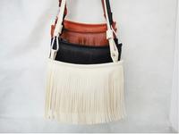 New 2014 Y Fashion Women Handbag Tassel Cross Body Women Bag Brand Designer Ladies Shoulder Bags Solid Zipper Messenger Bag