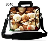"Cute Teddy Bear Shoulder Case Cover Handle Bag Sleeve Pouch For 17.3"" 15.6"" 14"" 13.3"" 11.6"" 10.1"" Laptop PC"