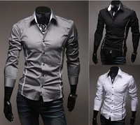 Polo summer autumn spring 2014 casual Men Shirt Casual shirts Slim Fit Stylish Mens Dress Shirts