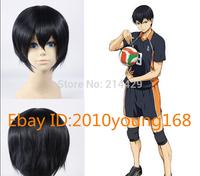 Haikyuu Kageyama Tobio Short Blue Black Hallweeen Cosplay Costume Party hair Full Wig