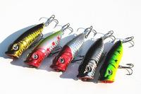 5pcs/lot 13g 65mm Random Color Fishing Lure Paillette Tackle Treble Hook Bait Multi fishing lures SG3320 Free drop shippiing
