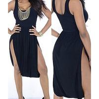 2014 New Black Novelty Dress Sleeveless Dress Women Casual Club Outfits Fashion Clubwear Party Sexy Dress 2b