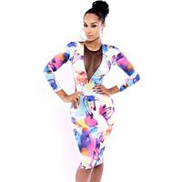 2014 new women sexy dress printing dress long fashion dress sutian  shorts knitted givency