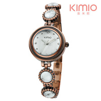 KIMIO Brand Fashion Elegant Women Rhinestone Decorative Watches, Waterproof, High-Quality Women Quartz Watches, Free Shipping