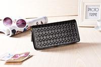 new 2014 hot sell brand women wallet leather Skull wallet fashion purse women clutch wallet ladies handbag Evening Bag key bag
