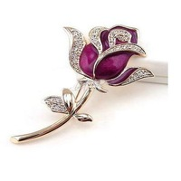Free shipping crystal pen drive flower purple Rose model USB flash drive 2.0 Pen memory U disk 4GB 8GB 16GB 32GB