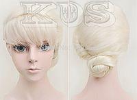 Frozen Elsa Coronation Fashion Styled Cosplay Wig Cos Wig Natural Kanekalon Fiber no lace Hair full Wigs
