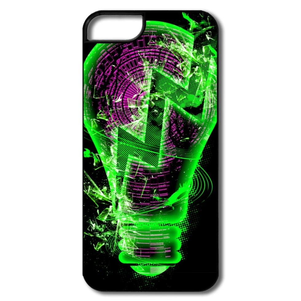 Top Brand Plastic Case Light Bulb Customized For Iphone Case 5 Accept Your Own Texts(China (Mainland))