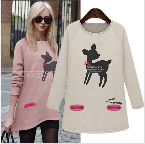 2014 autumn outfit new women's sport suit women sweater pullovers long sleeve sweatshirt Ribbon blouse female sportswear WE450(China (Mainland))