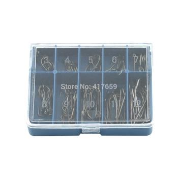 100 шт. черный серебристый 10 размеры 3# - 12# крючки поставляется с носит Box