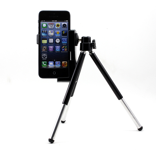Mini Black Color Mobile phone Camera Video Tripod Stand Holder Mount Dock for iPhone 5 5G 4S 4(China (Mainland))