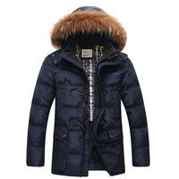 2014 Brand 90% Duck Down Jackets New Arrival Men's Winter Coat Padded Jacket Autumn Winter Outwear Man Casual Coats Slim AHY403